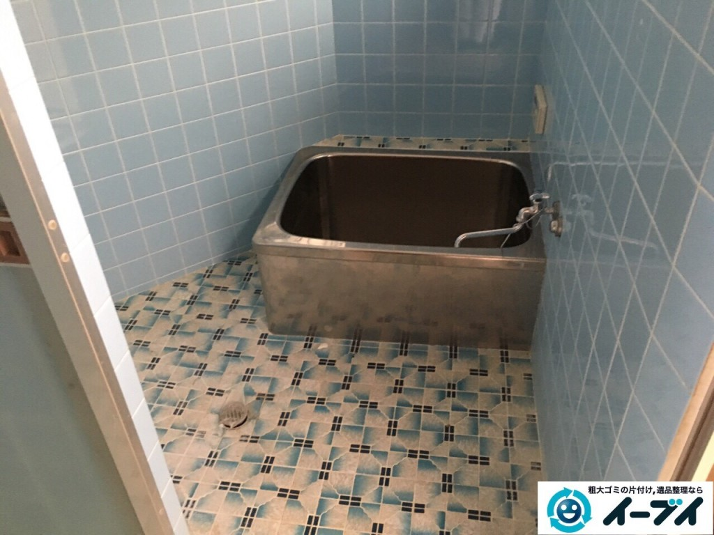 11月26日 大阪府大阪市西淀川区で洗濯機や風呂場の洗剤など粗大ゴミの不用品回収をしました。写真2