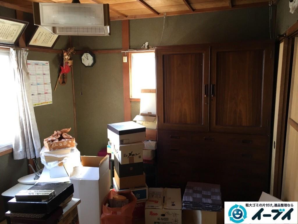 11月29日 大阪府大阪市西淀川区で遺品整理に伴う食器棚の家具や粗大ゴミの片付け処分をしました。写真3