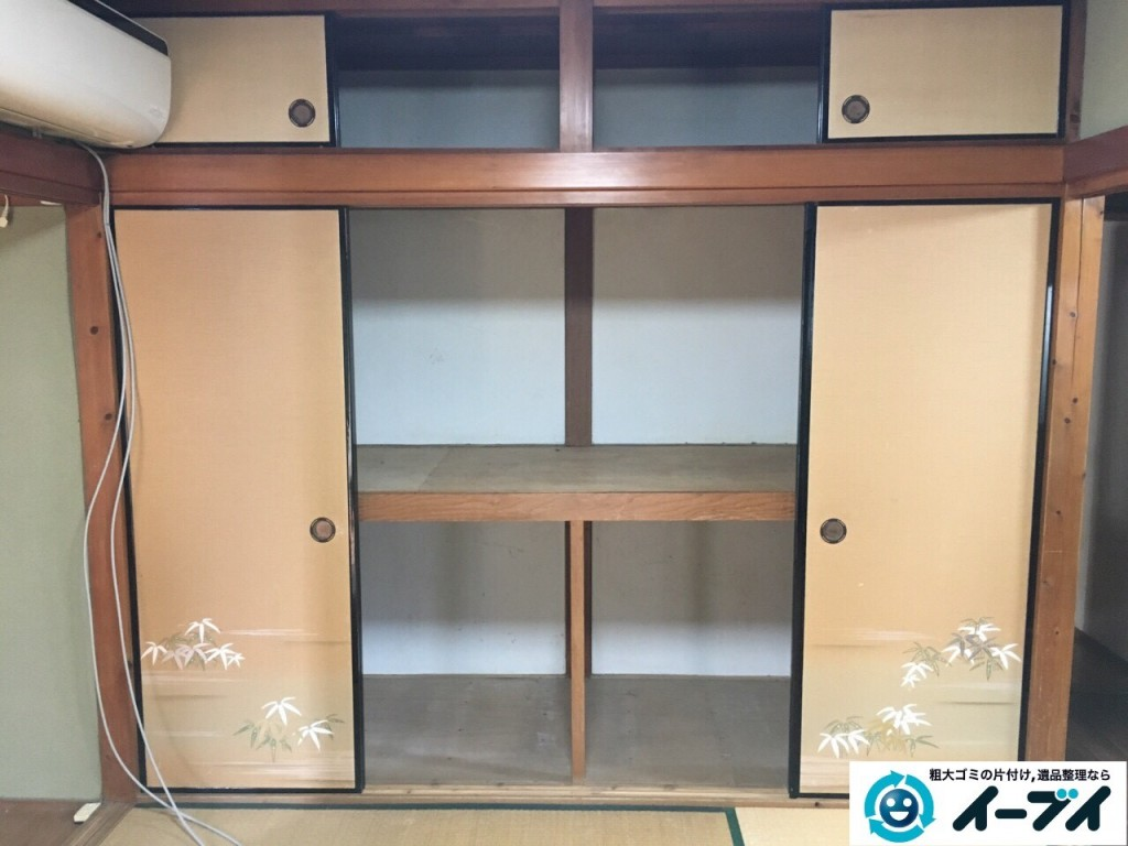 12月4日 大阪府三島郡島本町で家具や粗大ゴミ処分に伴う遺品整理をしました。写真1