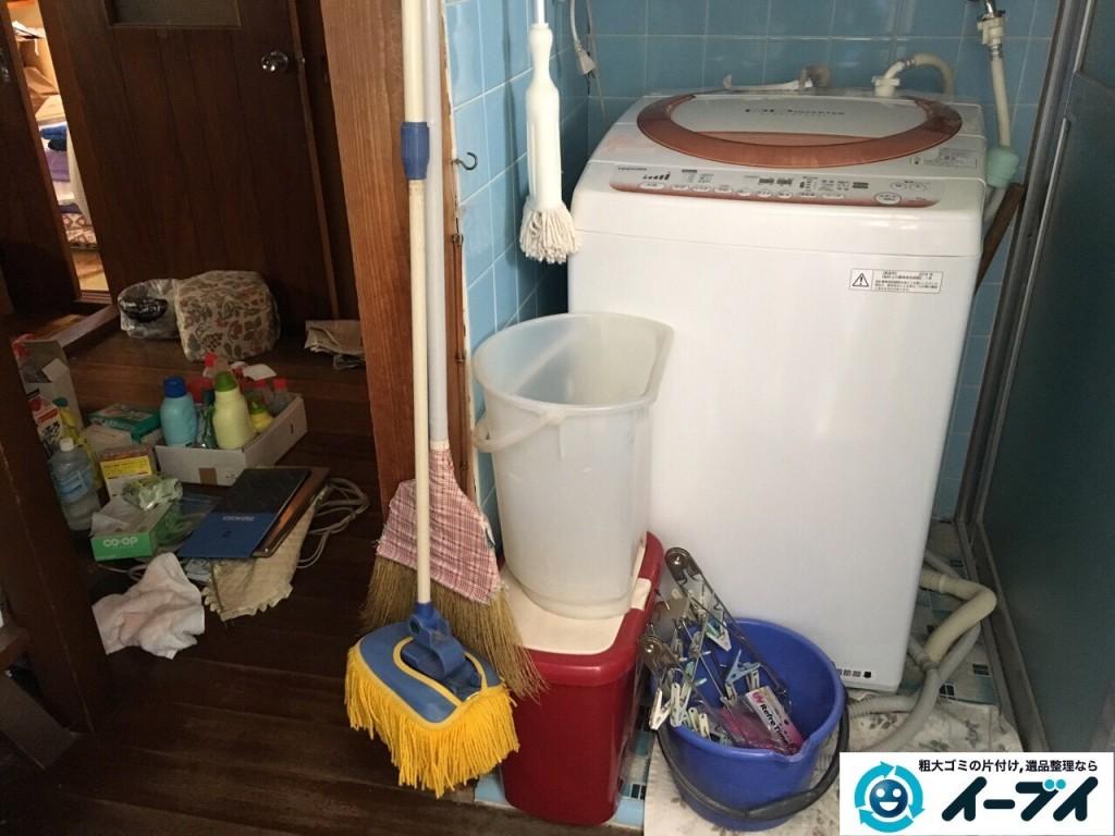11月26日 大阪府大阪市西淀川区で洗濯機や風呂場の洗剤など粗大ゴミの不用品回収をしました。写真1
