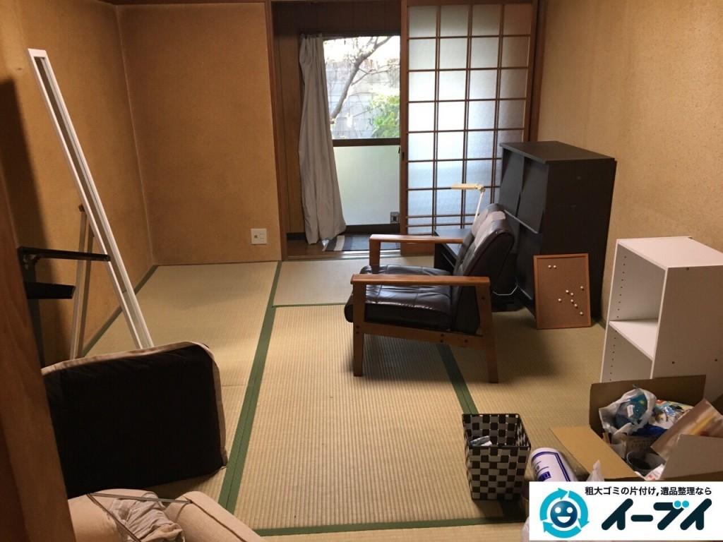 12月4日 大阪府三島郡島本町で家具や粗大ゴミ処分に伴う遺品整理をしました。写真4
