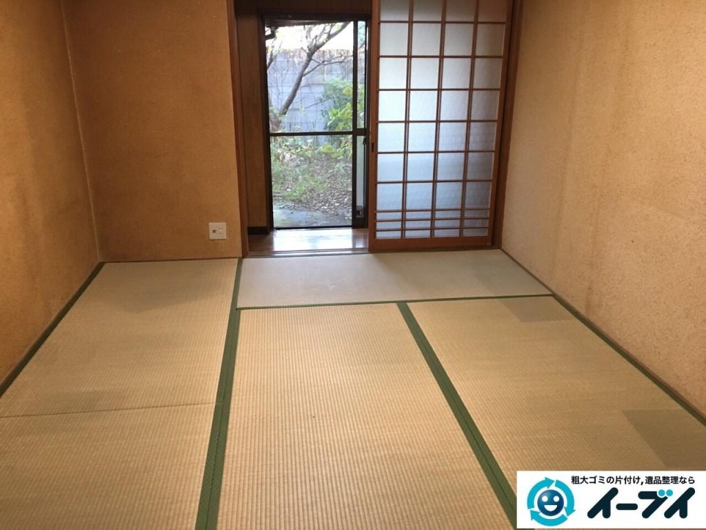 12月4日 大阪府三島郡島本町で家具や粗大ゴミ処分に伴う遺品整理をしました。写真3