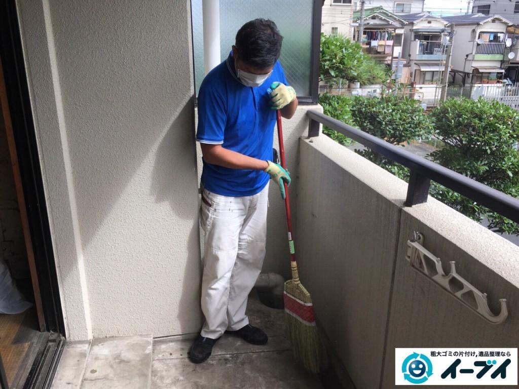 11月16日 大阪府大阪市淀川区でベランダの廃品や粗大ゴミの不用品回収をしました。写真1