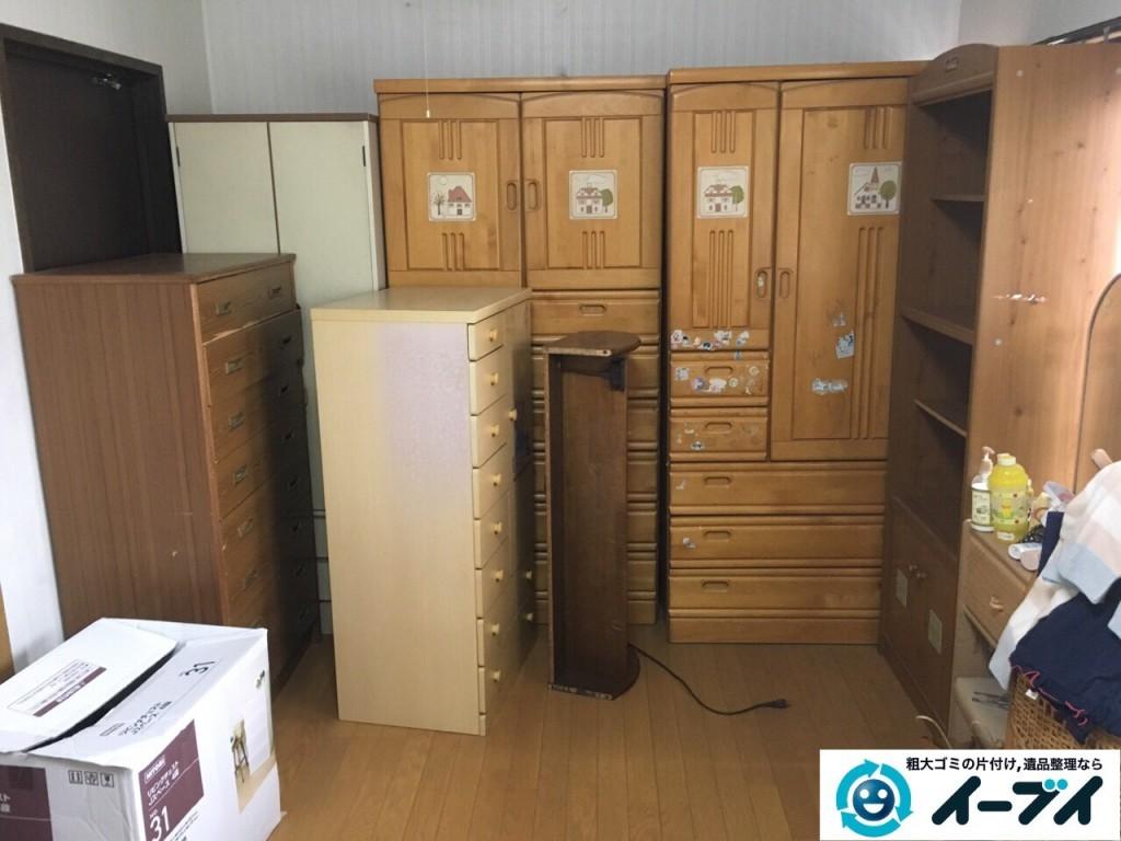 12月19日 大阪府東大阪市でタンスや学習机などの粗大ゴミの家具処分をしました。写真1