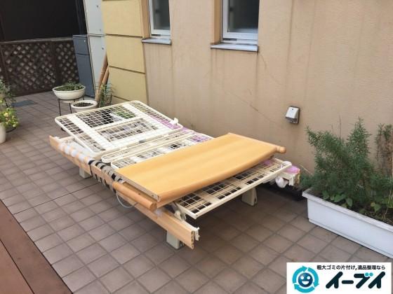 12月7日 大阪府大阪市東住吉区で老人ホーム様からの依頼で電動ベッドの処分をしました。写真3