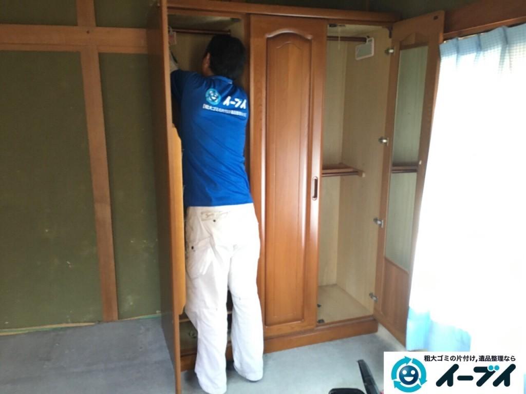 1月1日 大阪府岸和田市で婚礼家具の家具処分で不用品回収をしました。写真4