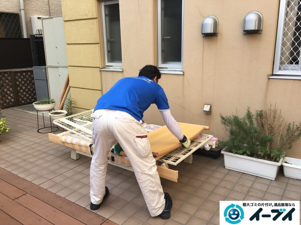 12月7日 大阪府大阪市東住吉区で老人ホーム様からの依頼で電動ベッドの処分をしました。写真4