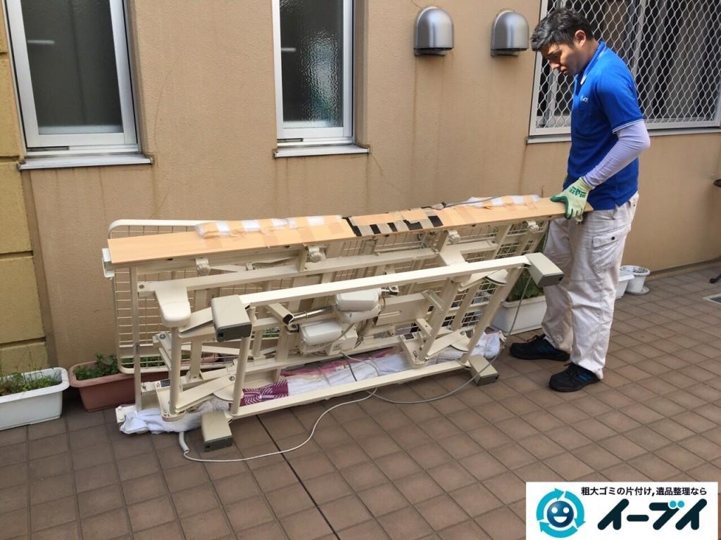 12月7日 大阪府大阪市東住吉区で老人ホーム様からの依頼で電動ベッドの処分をしました。写真2