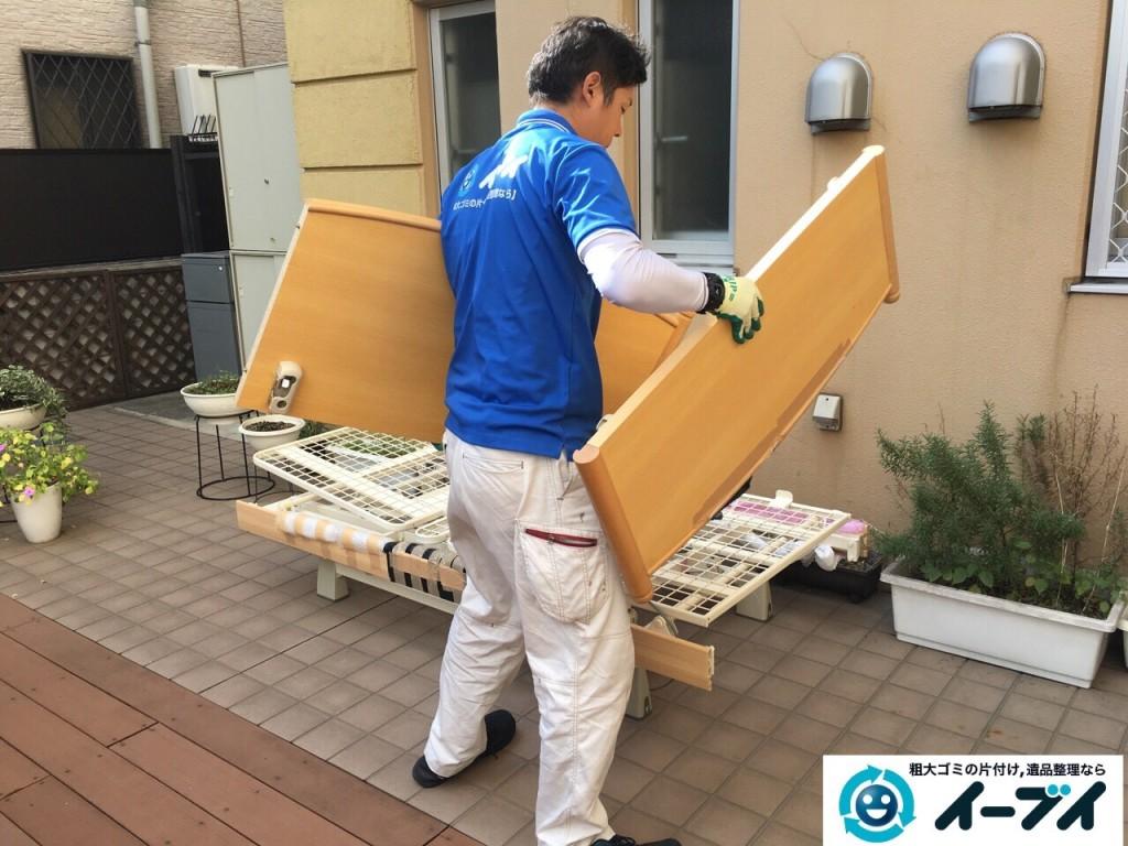 12月7日 大阪府大阪市東住吉区で老人ホーム様からの依頼で電動ベッドの処分をしました。写真1
