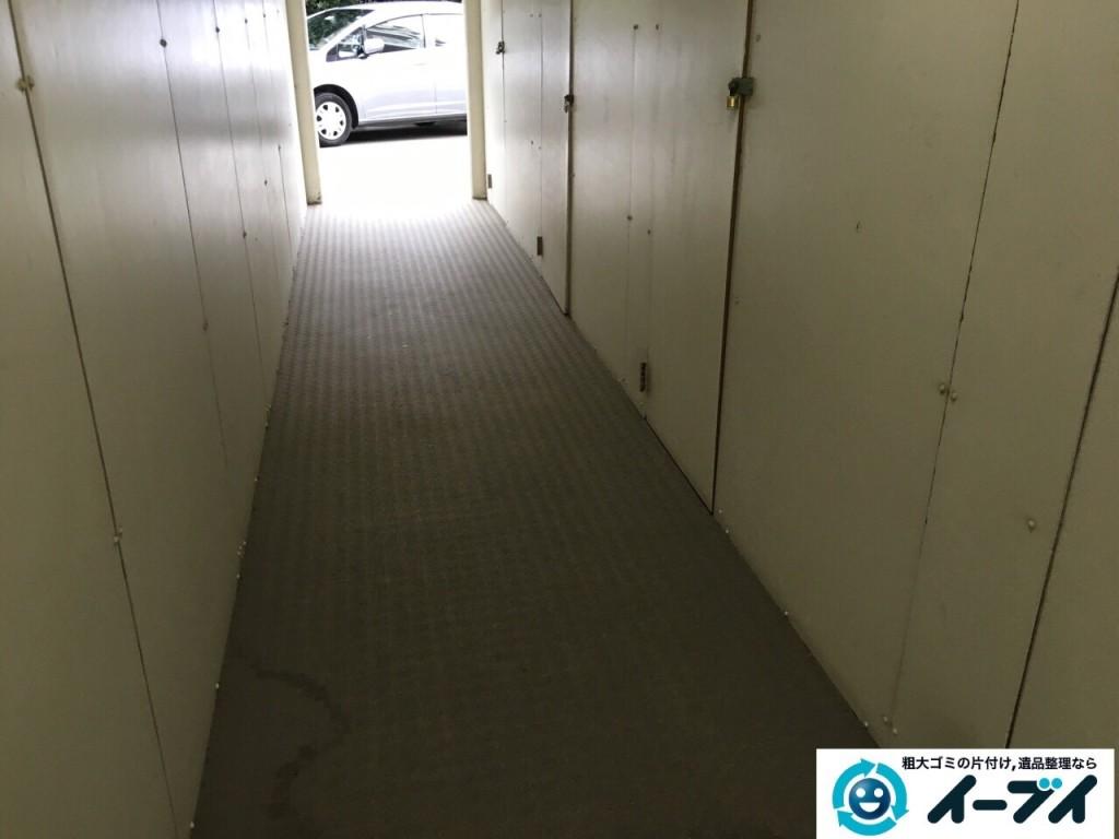 12月16日 大阪府豊能郡能勢町でマンションの倉庫の廃品や粗大ゴミの不用品回収をいたしました。写真1