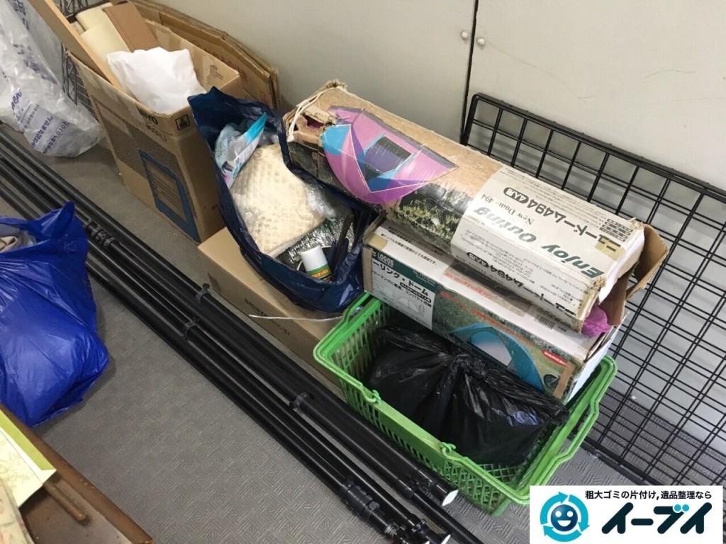 12月16日 大阪府豊能郡能勢町でマンションの倉庫の廃品や粗大ゴミの不用品回収をいたしました。写真3