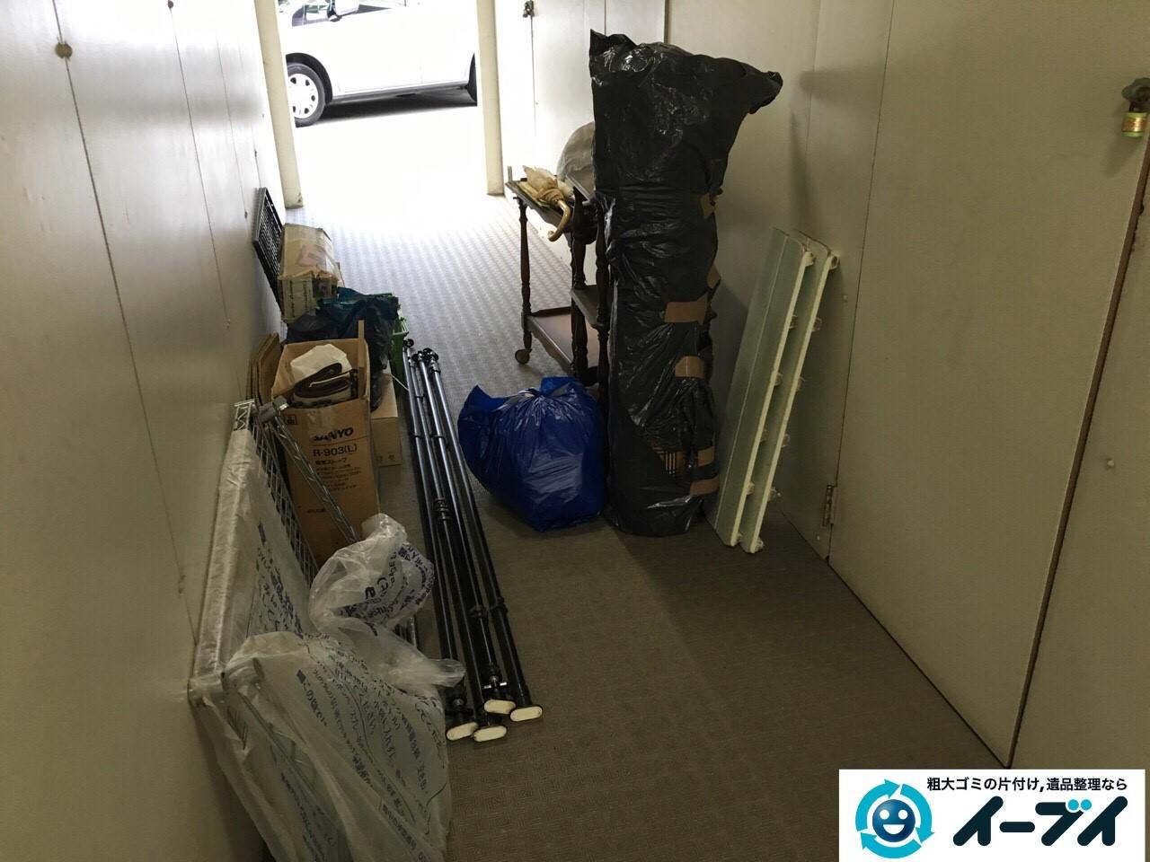 12月16日 大阪府豊能郡能勢町でマンションの倉庫の廃品や粗大ゴミの不用品回収をいたしました。写真2
