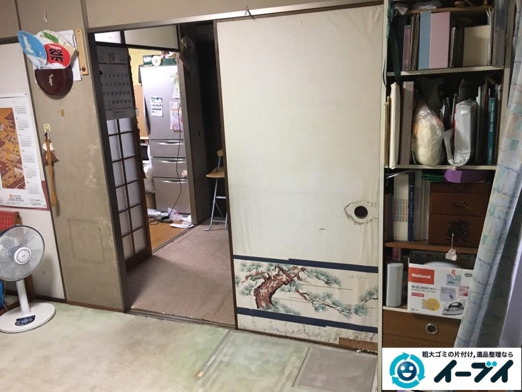 12月14日 大阪府豊能郡豊能町で家具や粗大ゴミの不用品回収をしました。写真1