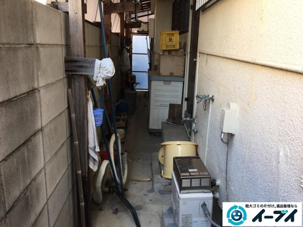 12月17日 大阪府豊中市で廃品や木材など長年放置された粗大ゴミの不用品回収をしました。写真4