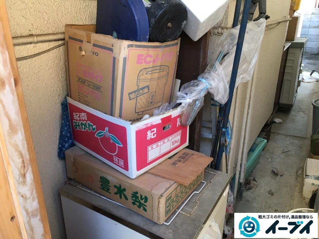 12月17日 大阪府豊中市で廃品や木材など長年放置された粗大ゴミの不用品回収をしました。写真3