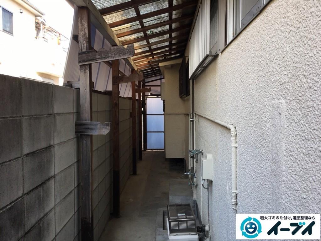 12月17日 大阪府豊中市で廃品や木材など長年放置された粗大ゴミの不用品回収をしました。写真7