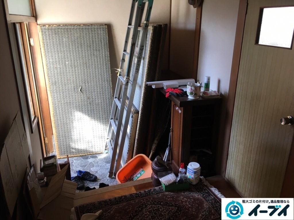 12月20日 大阪府池田市で下駄箱や畳や梯子など不用品回収をしました。写真4