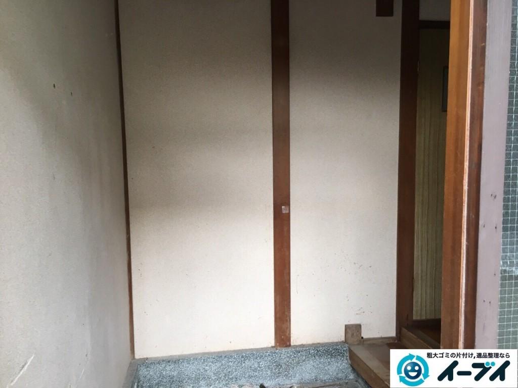 12月20日 大阪府池田市で下駄箱や畳や梯子など不用品回収をしました。写真3