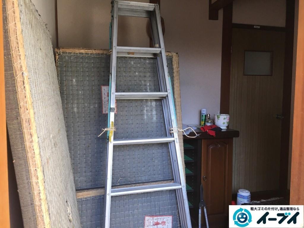 12月20日 大阪府池田市で下駄箱や畳や梯子など不用品回収をしました。写真2