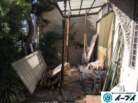 12月24日 大阪府交野市で庭の植木や廃品の粗大ゴミの片付けをしました。写真7