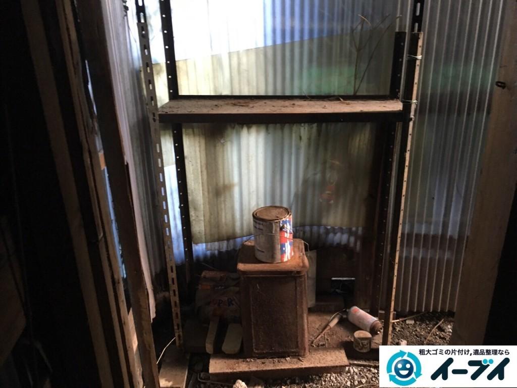 12月11日 大阪府門真市で庭の廃品や物干しざおなどを不用品回収しました。写真1