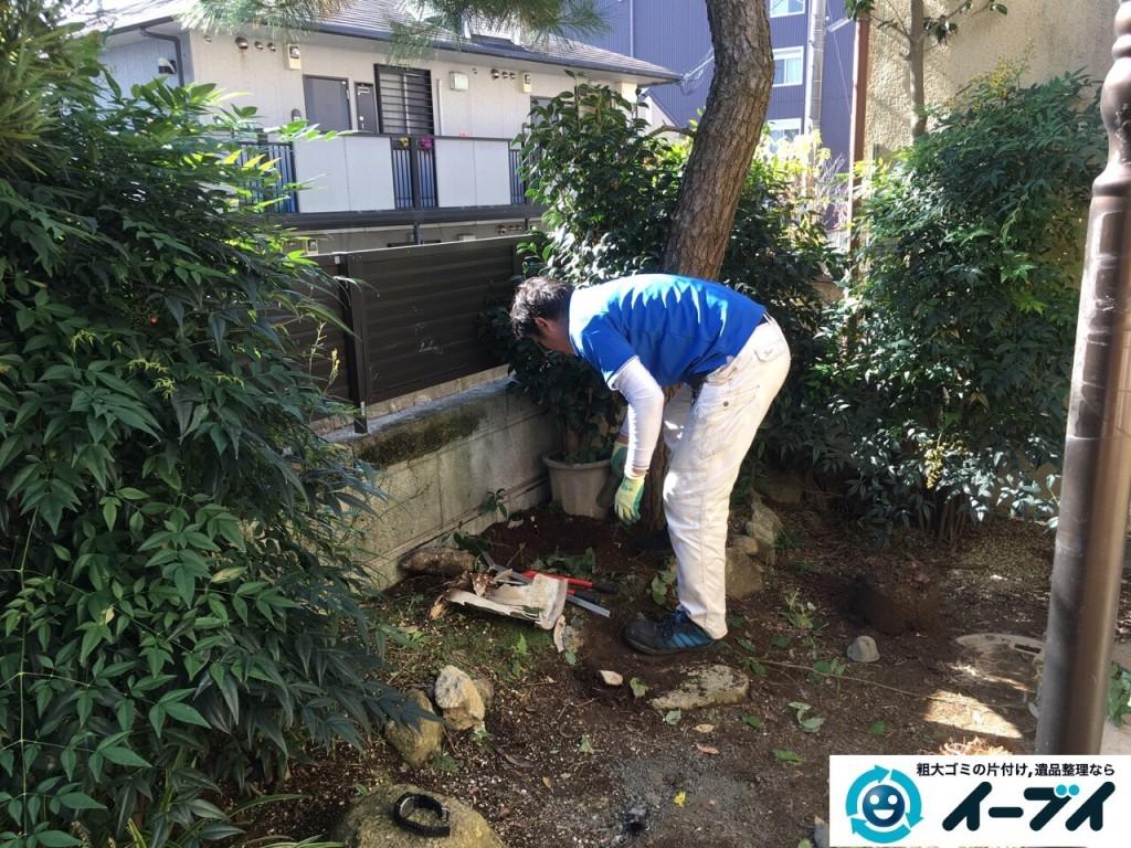 12月24日 大阪府交野市で庭の植木や廃品の粗大ゴミの片付けをしました。写真5