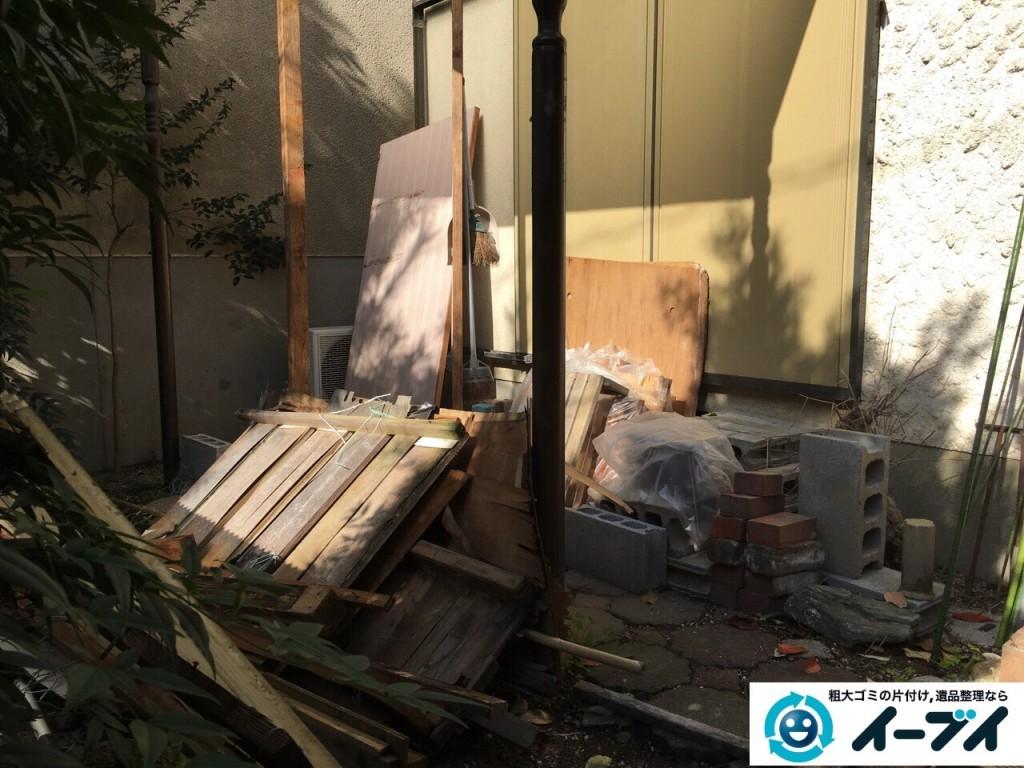 12月24日 大阪府交野市で庭の植木や廃品の粗大ゴミの片付けをしました。写真4