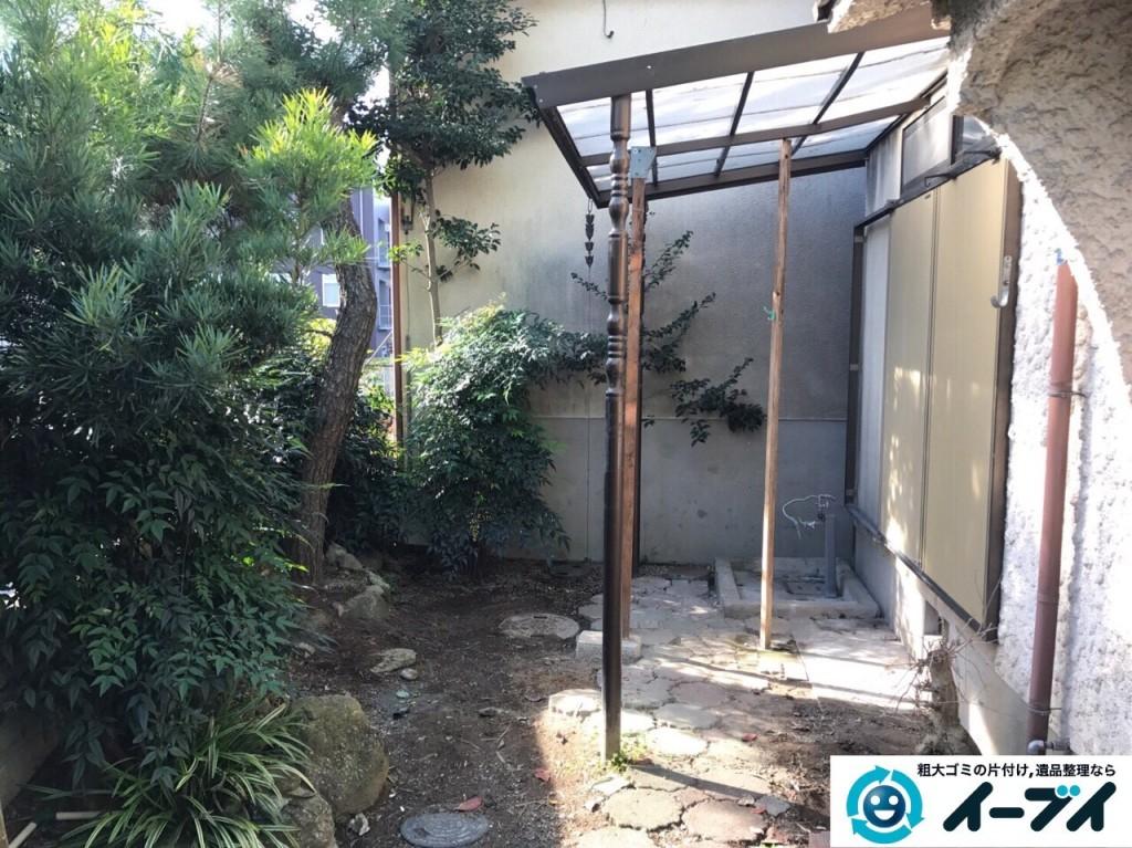 12月24日 大阪府交野市で庭の植木や廃品の粗大ゴミの片付けをしました。写真2