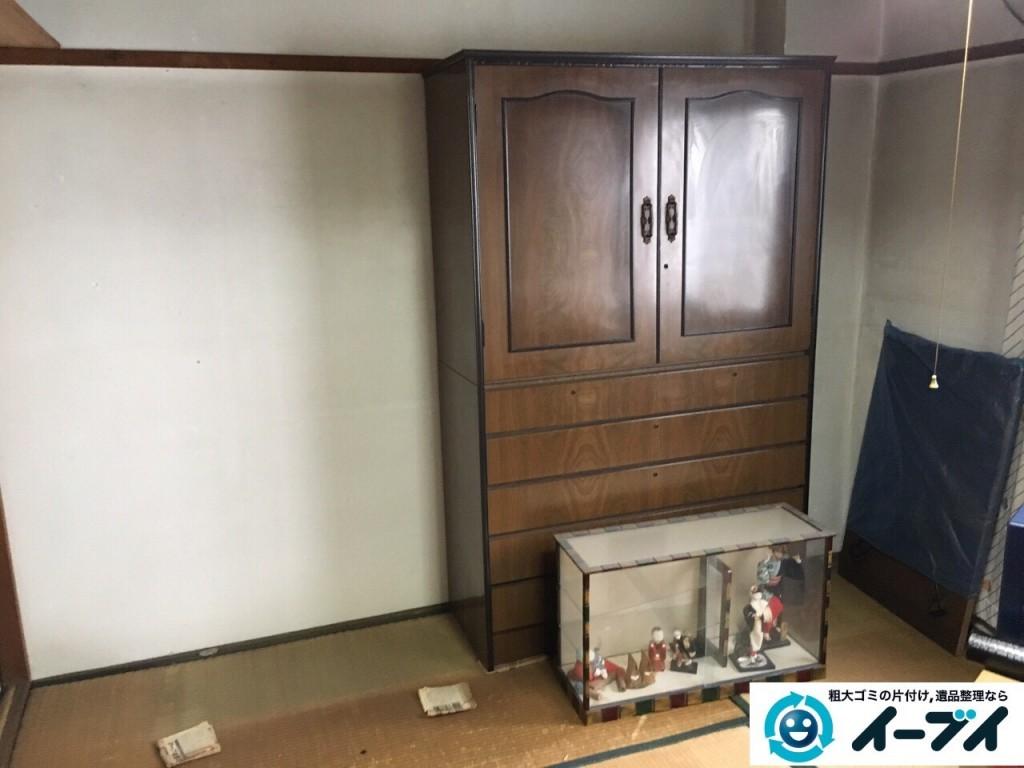 12月10日 大阪府箕面市で部屋の片付けでタンスや粗大ゴミの不用品回収をしました。写真4