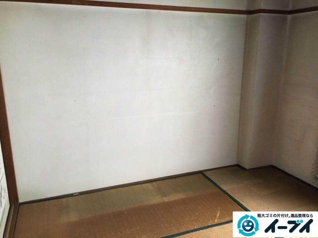 12月10日 大阪府箕面市で部屋の片付けでタンスや粗大ゴミの不用品回収をしました。写真3