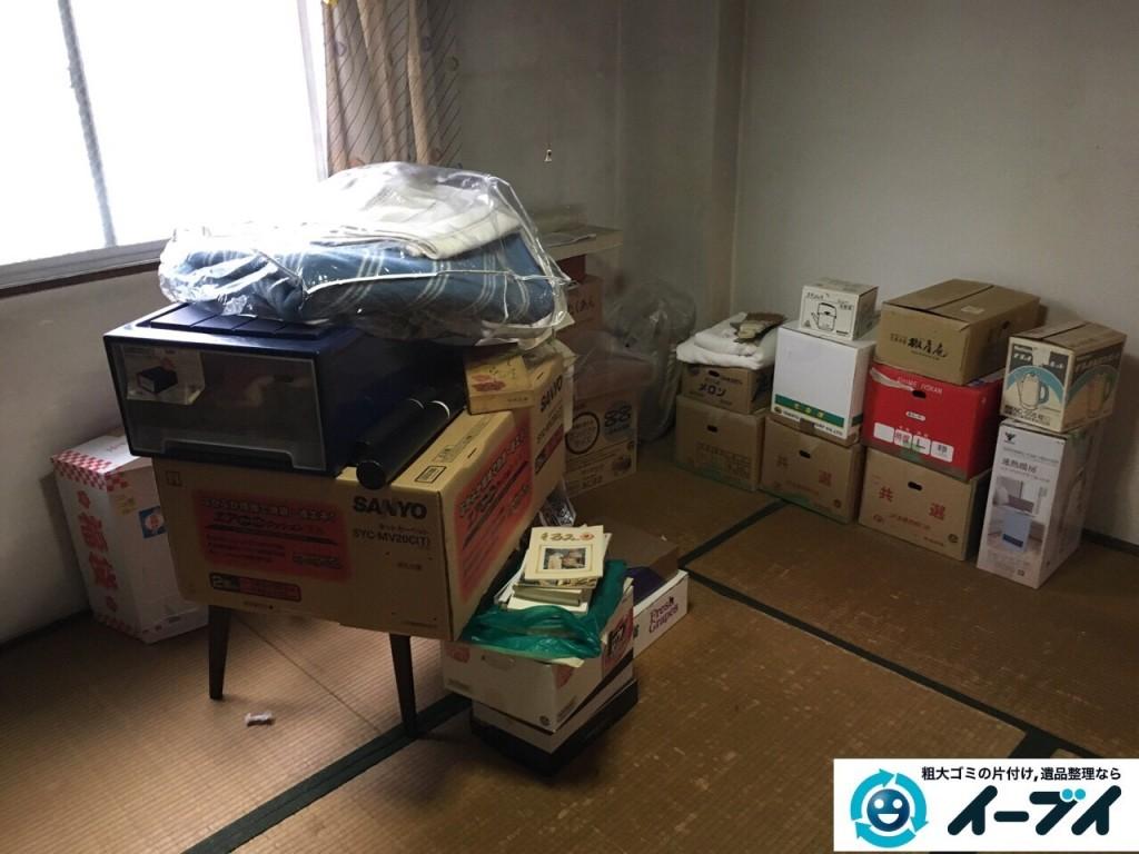 12月10日 大阪府箕面市で部屋の片付けでタンスや粗大ゴミの不用品回収をしました。写真2