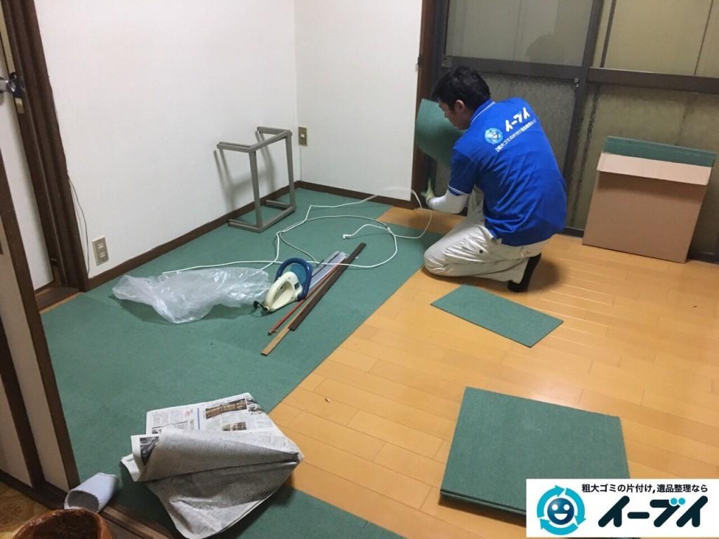 12月31日 大阪府高槻市で食器棚や絨毯の粗大ゴミを不用品回収しました。写真6