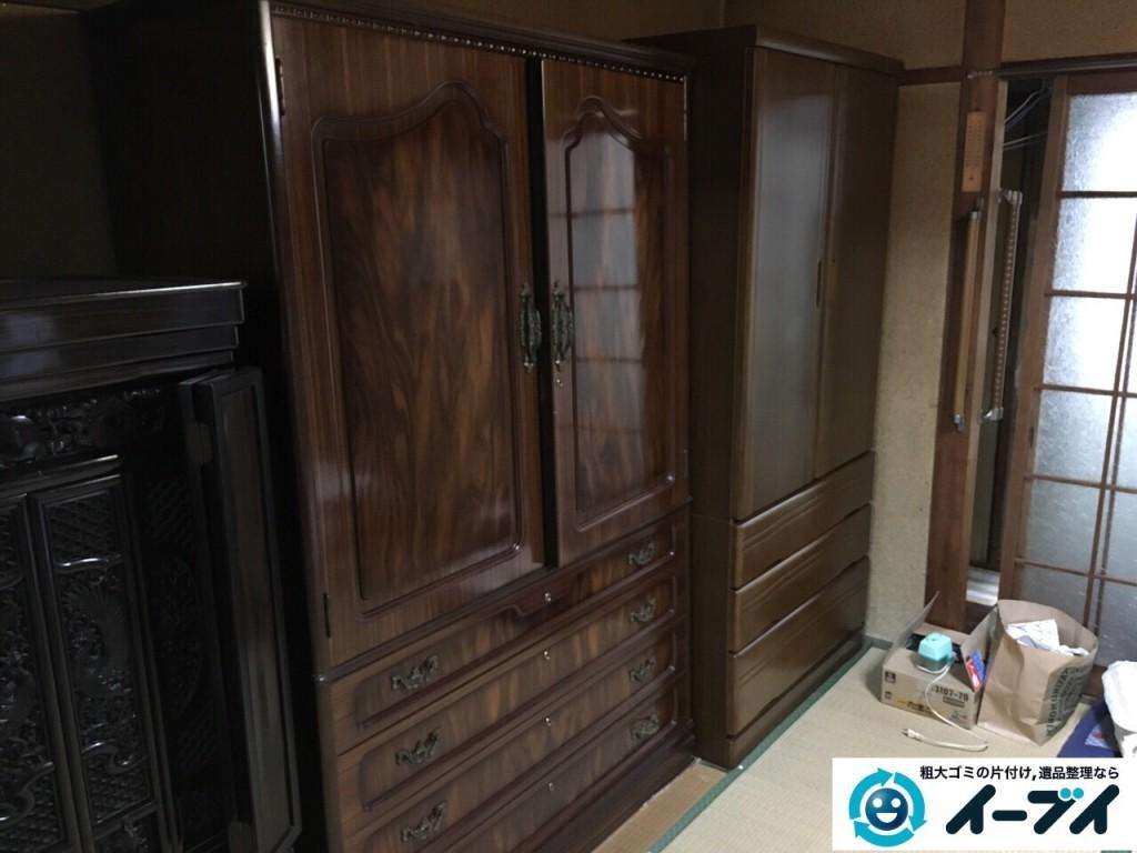 12月8日 大阪府茨木市で家具移動とタンス等の粗大ゴミや家具処分をしました。写真4