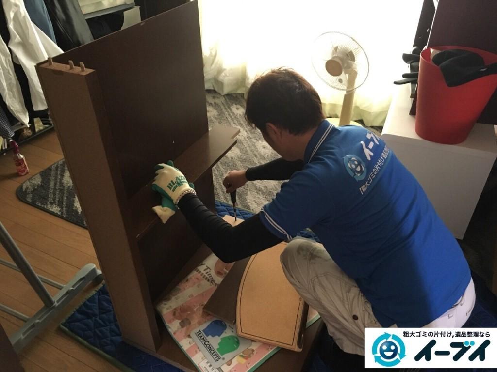 12月19日 大阪府東大阪市でタンスや学習机などの粗大ゴミの家具処分をしました。写真3