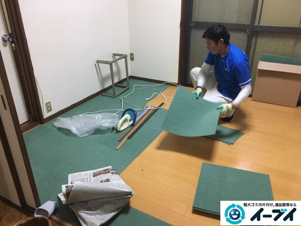 12月31日 大阪府高槻市で食器棚や絨毯の粗大ゴミを不用品回収しました。写真5