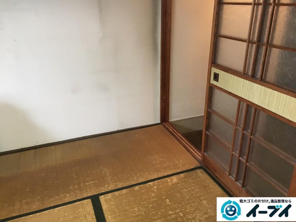 12月10日 大阪府箕面市で部屋の片付けでタンスや粗大ゴミの不用品回収をしました。写真5