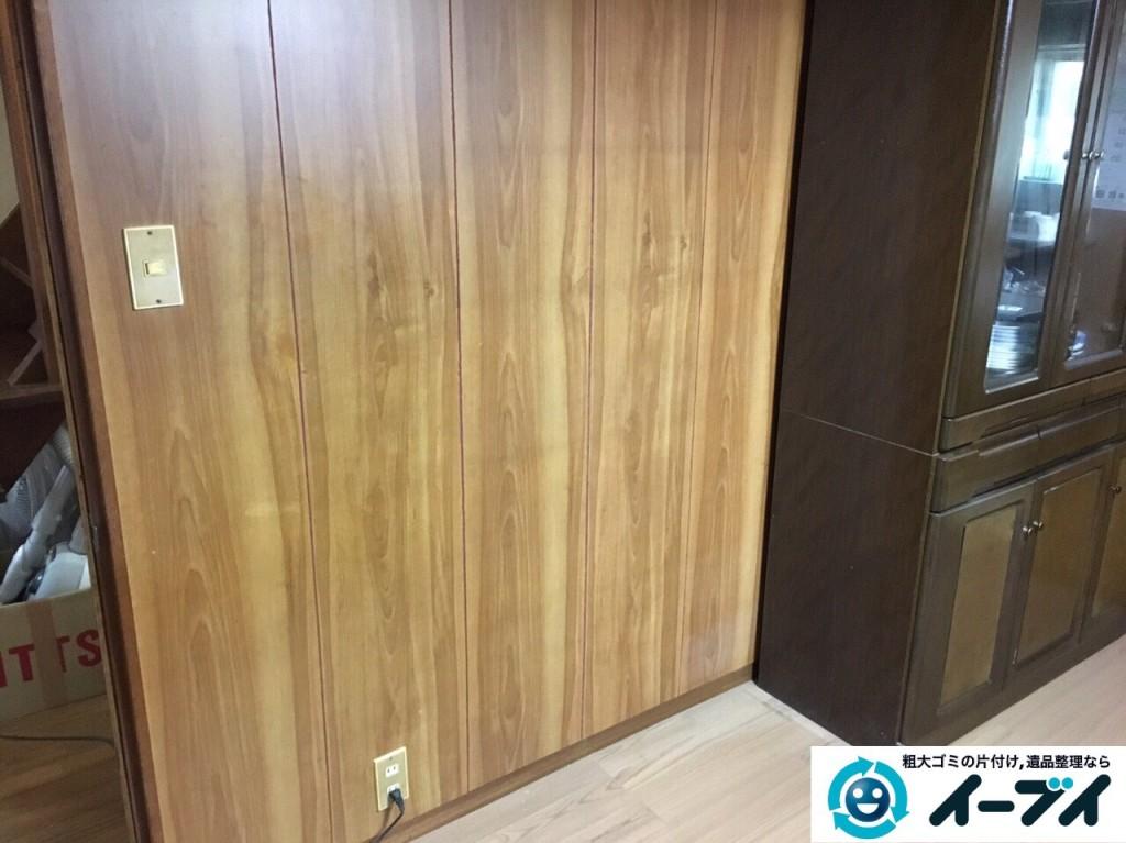12月27日 大阪府大阪市阿倍野区で本棚や家具処分に伴う粗大ゴミの片付けをしました。写真4