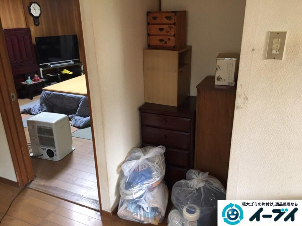12月27日 大阪府大阪市阿倍野区で本棚や家具処分に伴う粗大ゴミの片付けをしました。写真2
