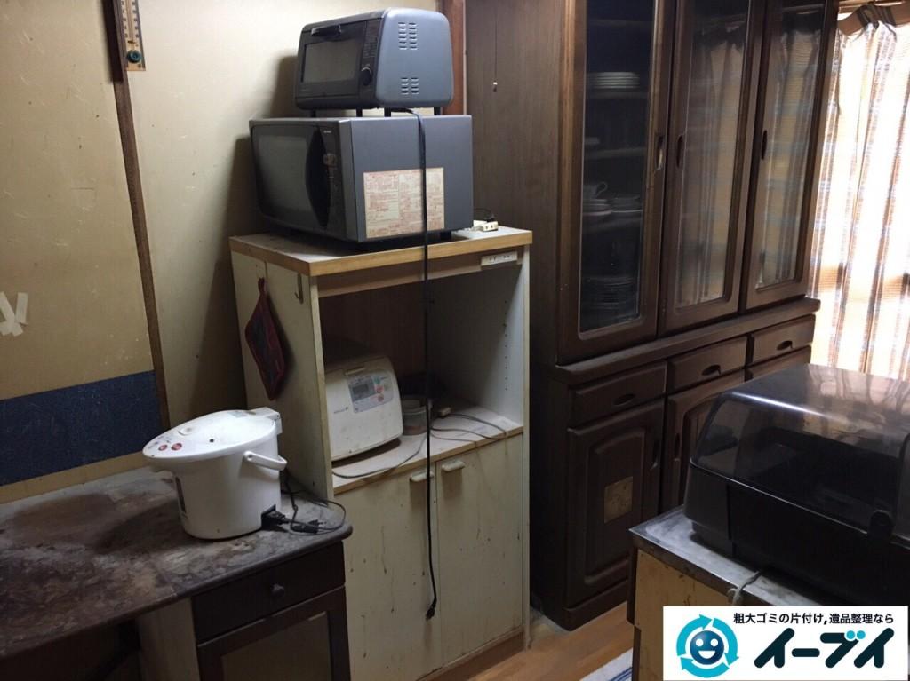 12月29日 大阪府大阪市住之江区で食器棚や冷蔵庫など粗大ゴミの片付けをしました。写真4