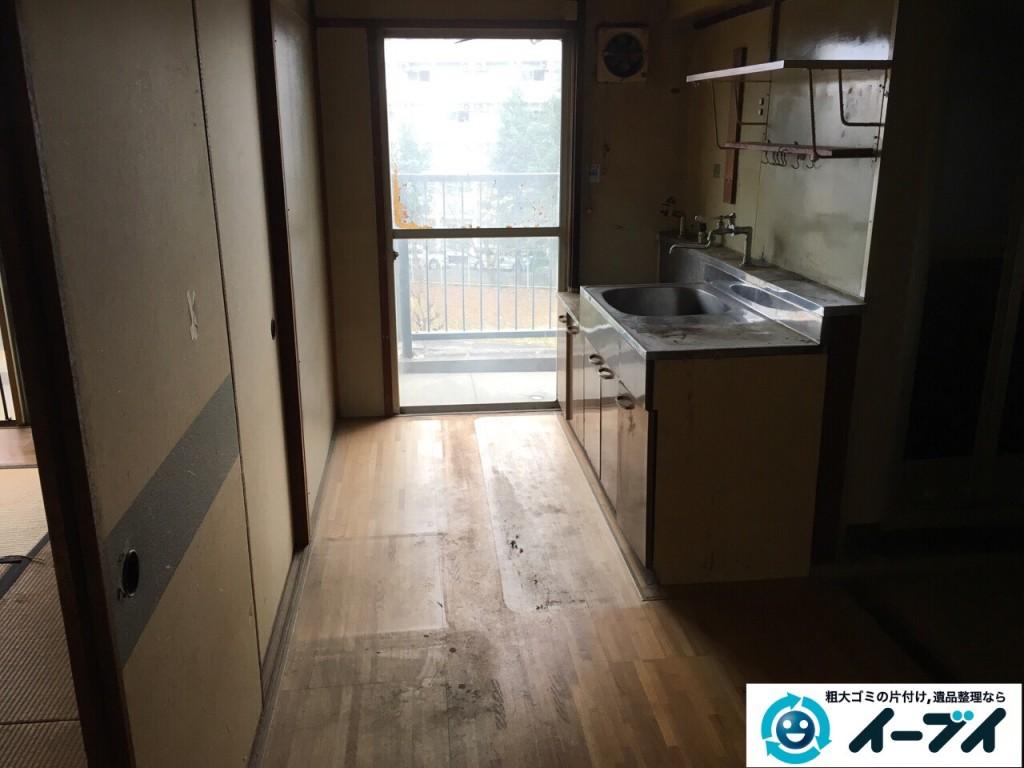 12月29日 大阪府大阪市住之江区で食器棚や冷蔵庫など粗大ゴミの片付けをしました。写真3