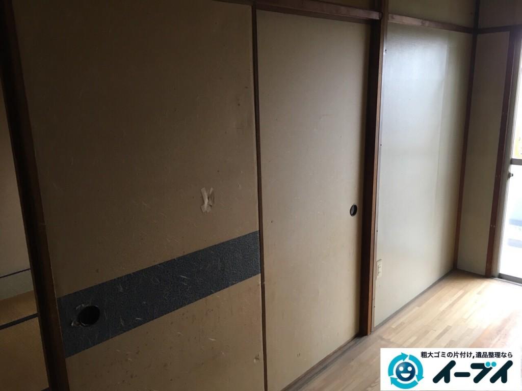 12月29日 大阪府大阪市住之江区で食器棚や冷蔵庫など粗大ゴミの片付けをしました。写真2