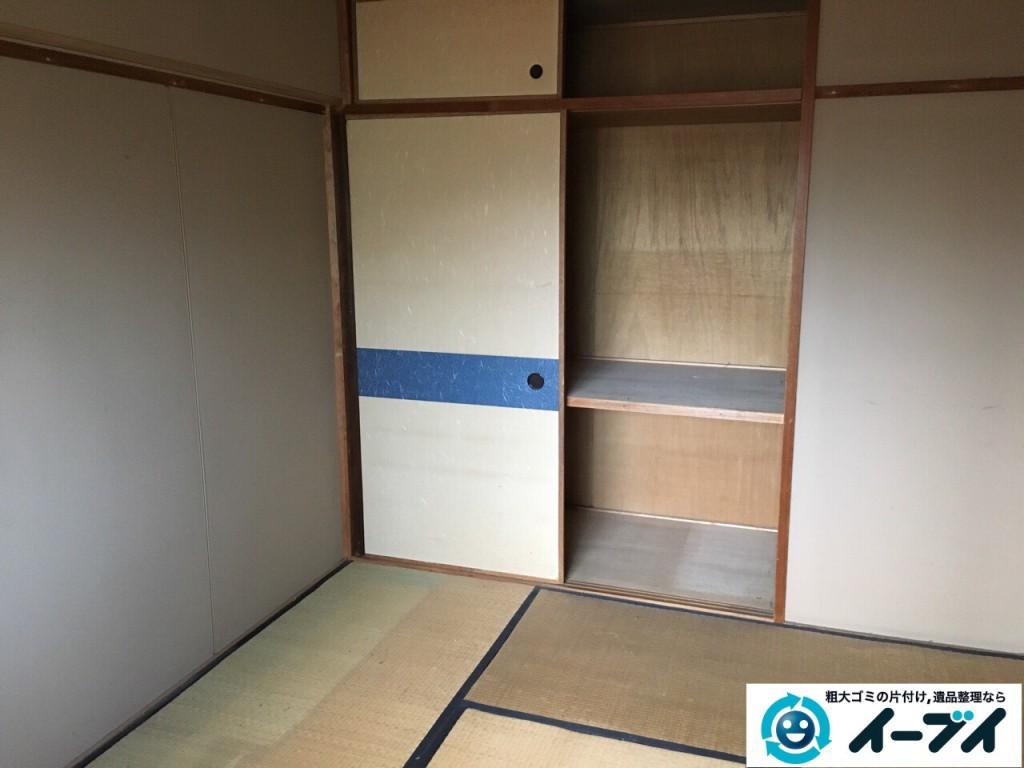 12月28日 大阪府大阪市此花区で洗濯機や家具処分に伴う粗大ゴミの不用品回収作業。写真2