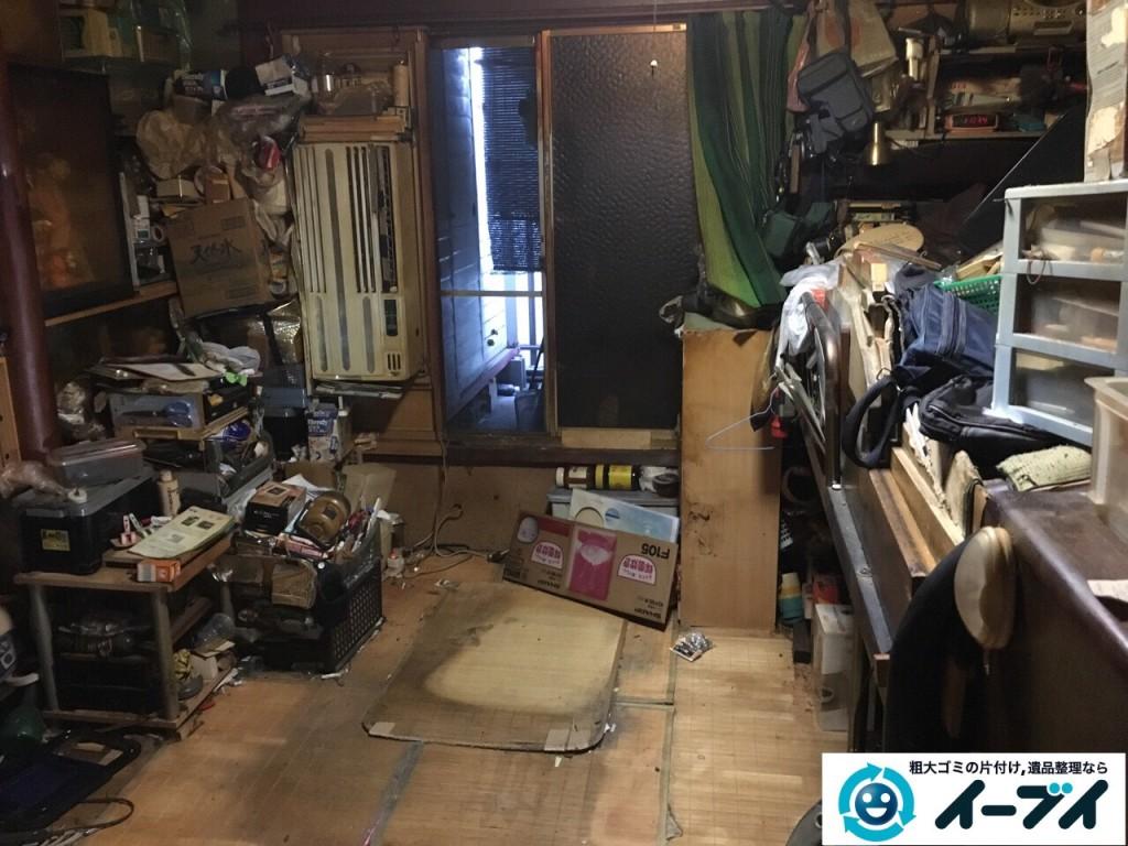 12月24日 大阪府和泉市で汚部屋状態のゴミ屋敷の片付け作業をしました。写真4