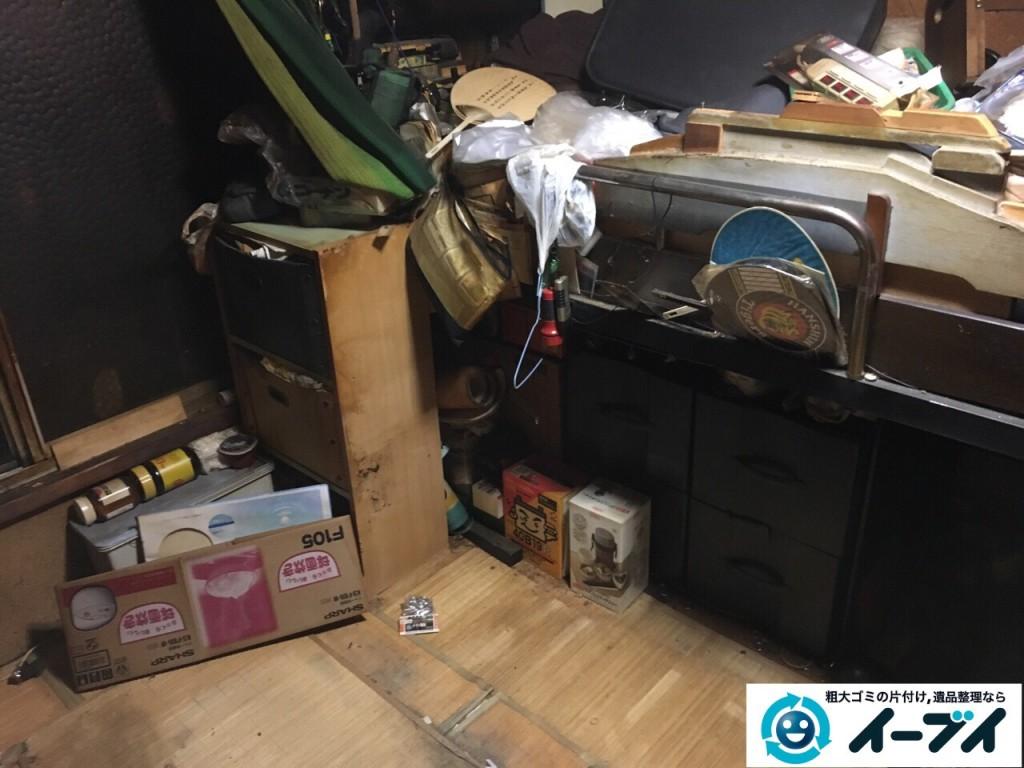12月24日 大阪府和泉市で汚部屋状態のゴミ屋敷の片付け作業をしました。写真2