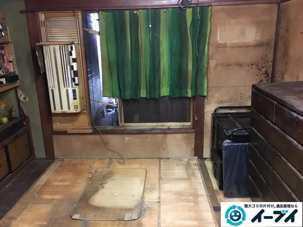 12月24日 大阪府和泉市で汚部屋状態のゴミ屋敷の片付け作業をしました。写真1