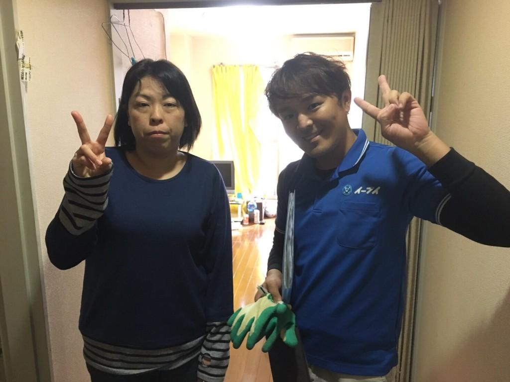 12月27日 大阪府大阪市港区で引っ越しに伴い、不用品回収でイーブイを利用して頂きました。