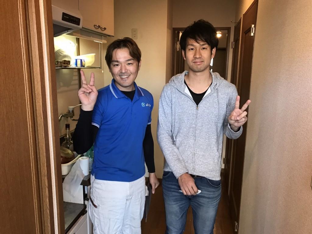 1月8日 大阪府大阪市堺市北区で冷蔵庫と洗濯機やベットの処分でイーブイをご利用して頂きました。