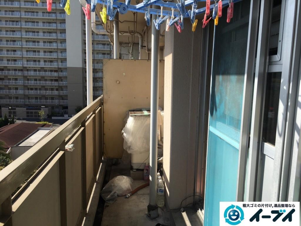 2017年1月19日大阪府大阪市平野区でベランダの洗濯機や廃品などの粗大ゴミの処分をしました写真7
