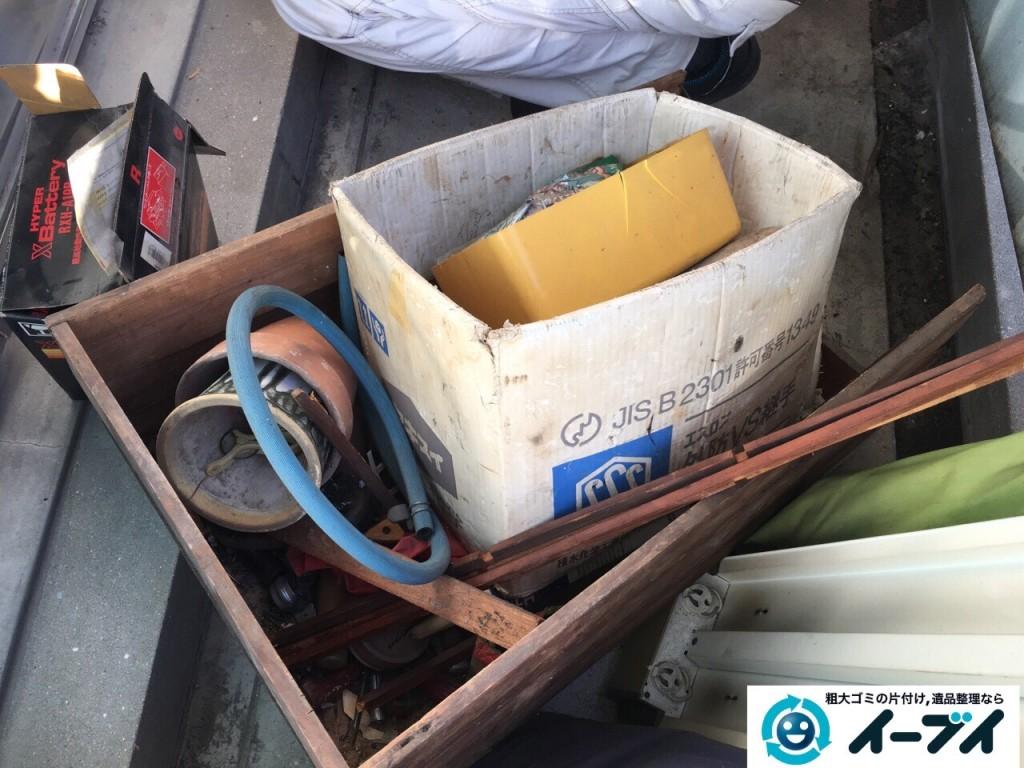 2017年1月19日大阪府大阪市平野区でベランダの洗濯機や廃品などの粗大ゴミの処分をしました写真5