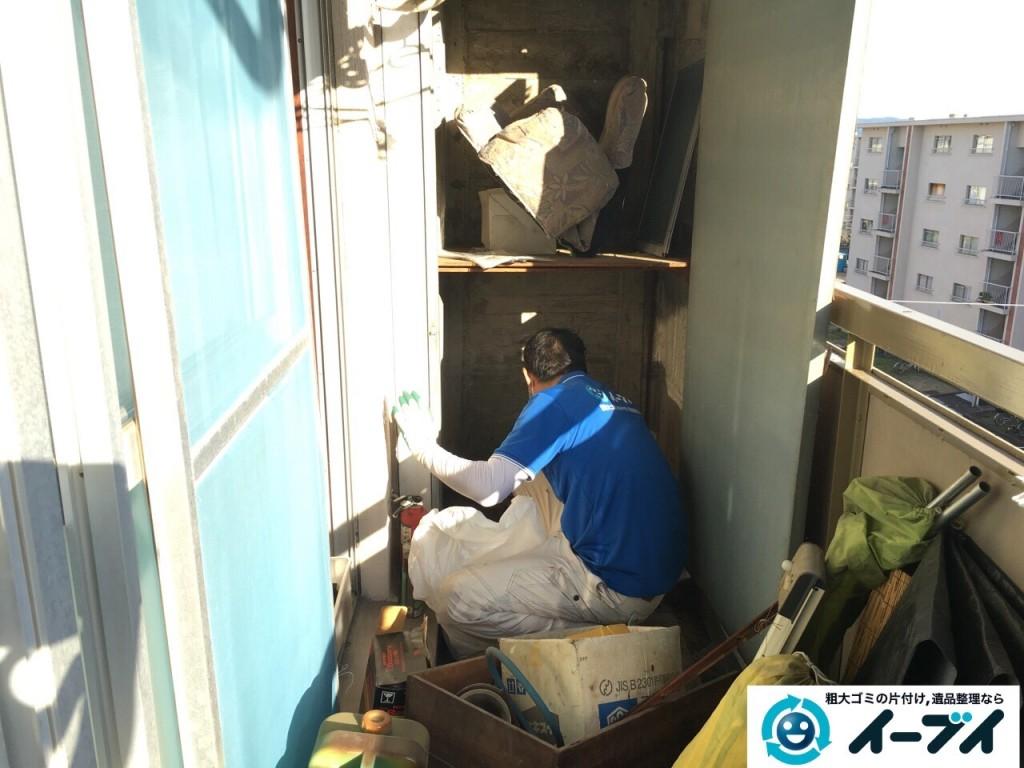 2017年1月19日大阪府大阪市平野区でベランダの洗濯機や廃品などの粗大ゴミの処分をしました写真2